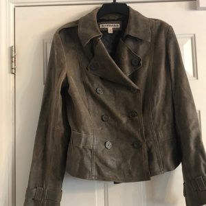 Express Off Brownish Leather Jacket